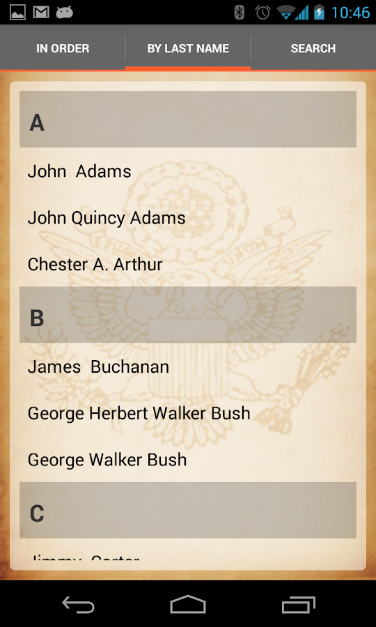 U.S. Presidents - screenshot