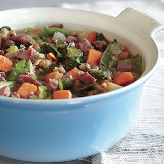 Lentil Stew with Smoked Turkey and Sweet Potatoes.
