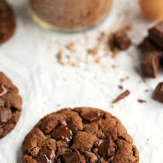 Flourless and Healthy (GF) Double Chocolate Cookies.