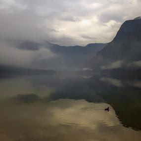 gloomy morning by Jože Borišek - Landscapes Waterscapes ( bohinj-slovenia )