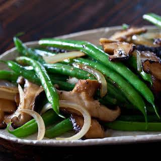 Green Bean and Shiitake Mushrooms.
