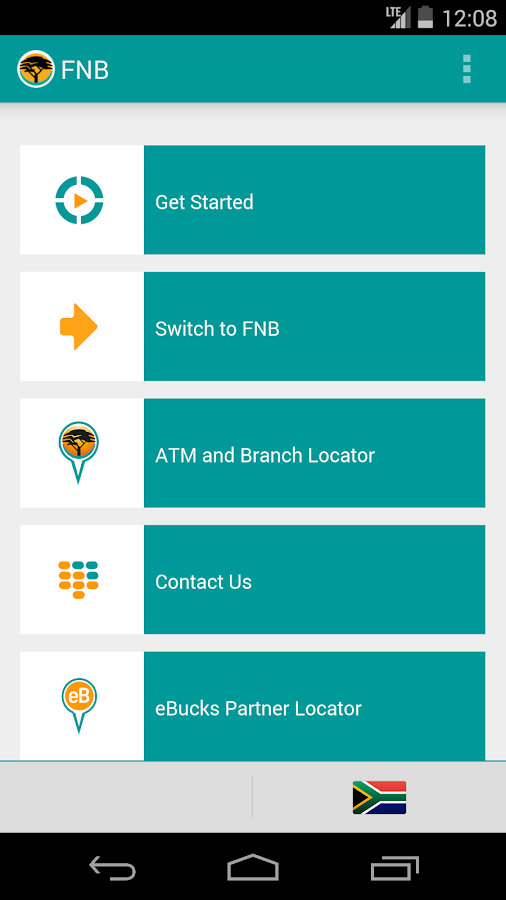 FNB Banking App- screenshot