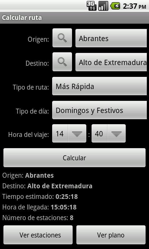 Metro de Madrid- screenshot