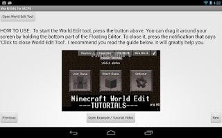 Screenshot of World Edit for MCPE