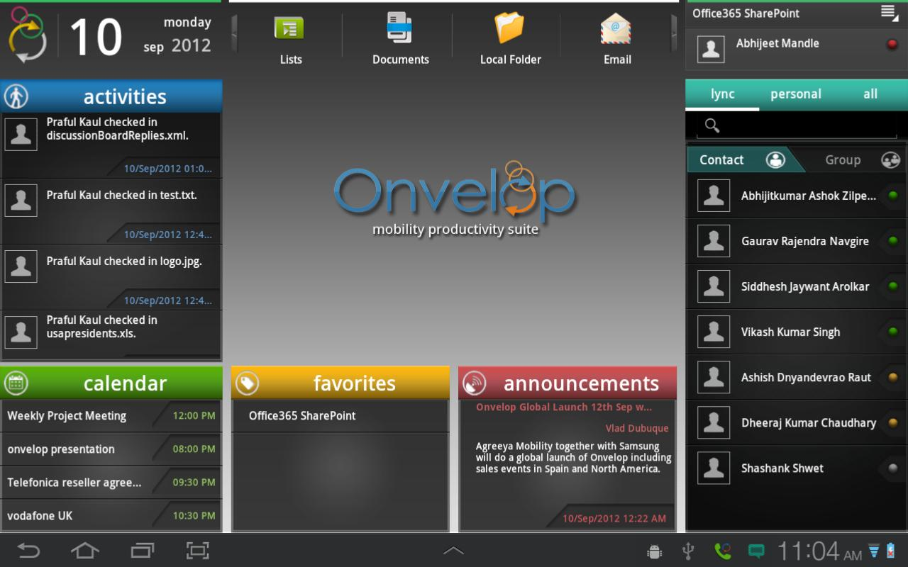 Onvelop - screenshot