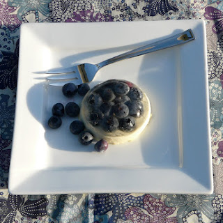 Blueberry and White Chocolate for a Double Flavored Panna Cotta.