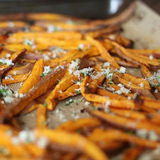 Sweet Potato Fries with Garlic