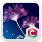 Neon Flower C Launcher Theme