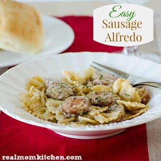 Easy Sausage Alfredo