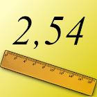 Pulgadas a centímetros icon