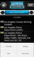 Screenshot of Police Scanner Radio PRO