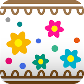 Cute Flower Line Wall Paper