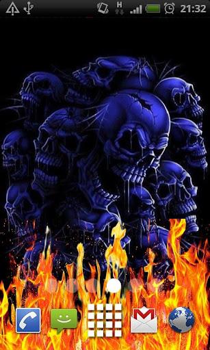 Fire Skulls of Death LWP