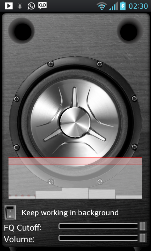 Subwoofer Bass Vibrator - screenshot