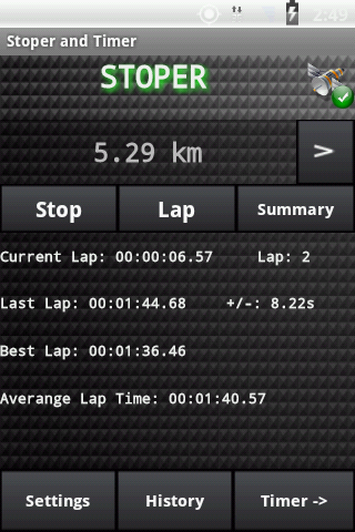 Stopwatch and Timer Pro - screenshot