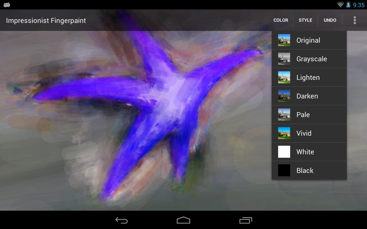 Impressionist Fingerpaint- screenshot