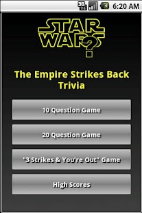 The Empire Strikes Back Trivia - screenshot thumbnail