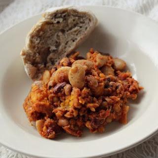 Sweet Potato & 3-Bean Slow Cooker Paprikash   Vegan