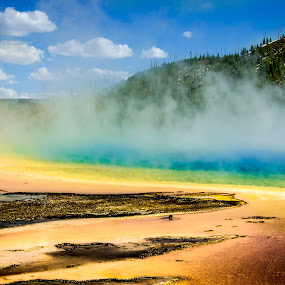 Spring by Sarthak Bisaria - Nature Up Close Other Natural Objects ( clouds, geyser, mountain, colorful, yellowstone national park, grand prismatic spring, mist )