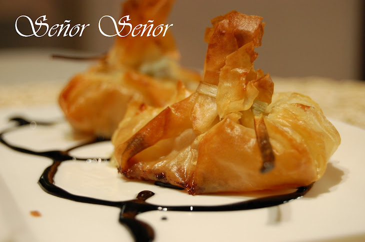 Blue Cheese Phyllo Pouches
