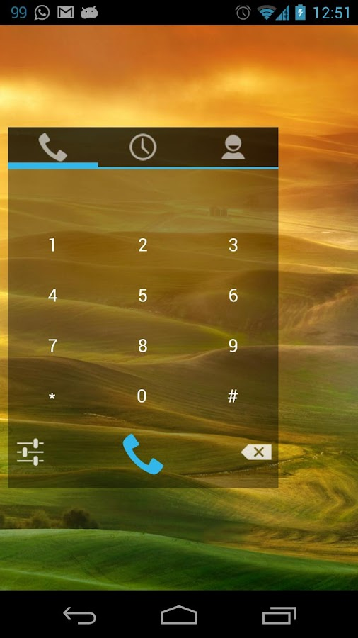 Simple Dialer Widget - screenshot