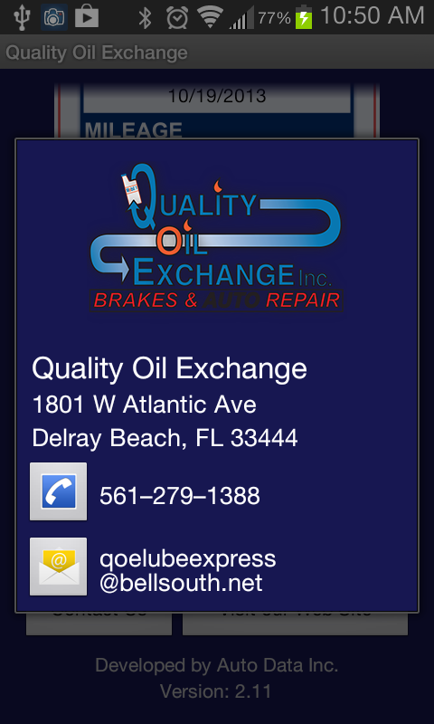 Quality Oil Exchange- screenshot