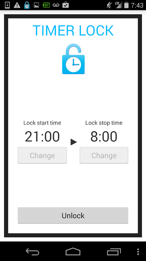 Smartphone addiction Timerlock- screenshot