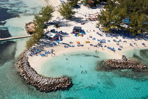 Coco-Cay-aerial-Royal-Caribbean-4 - Explore new aquatic facilities, nature trails and places where you can just kick back, relax and enjoy a tropical drink at CocoCay.