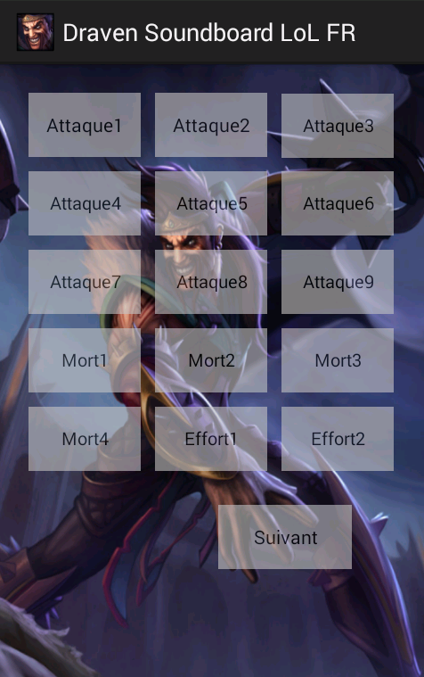 Draven Soundboard LoL FR - screenshot