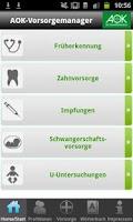 Screenshot of AOK-Vorsorge / Sağlık hizmeti