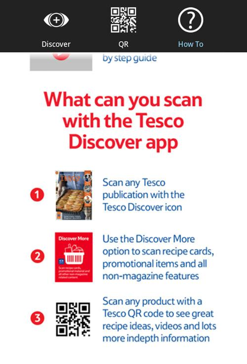 Tesco Discover - screenshot