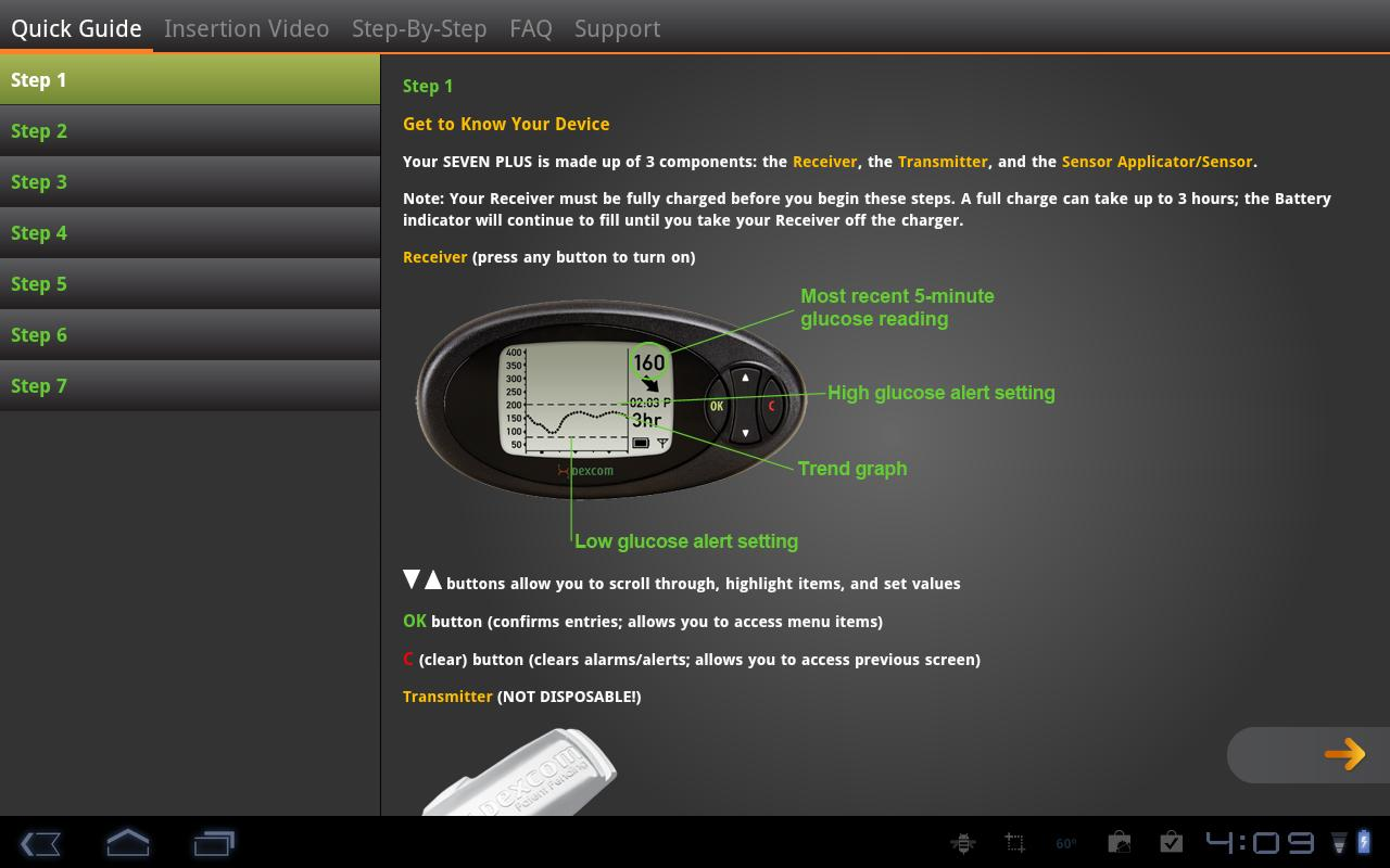 Dexcom- screenshot