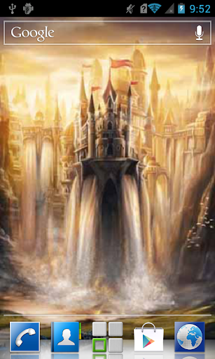 Castle waterfall Live WP