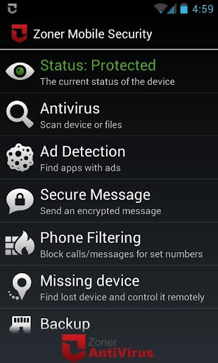 Zoner Mobile Security- screenshot thumbnail
