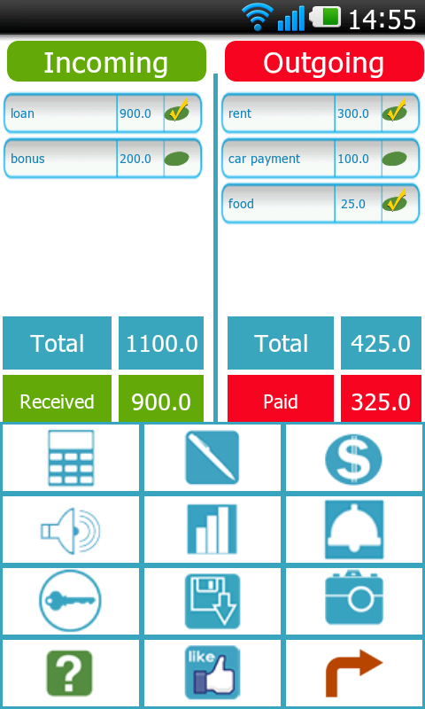 Balance Birdy bookkeeping - screenshot