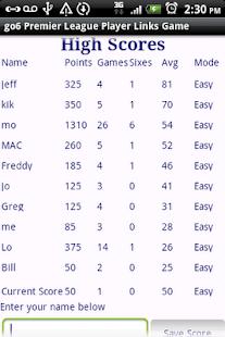 Premier League Players Quiz- screenshot thumbnail