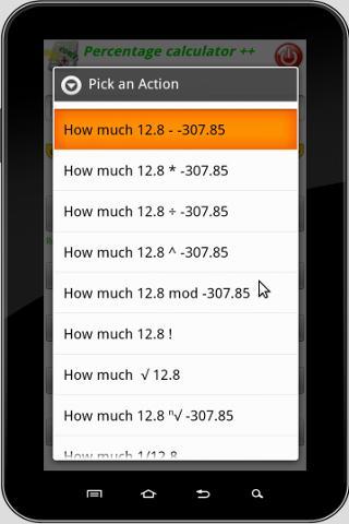 Screenshots for Percentage Calculator