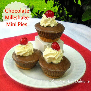 Chocolate Milkshake Mini Pies