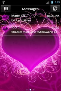 Theme Hearts for GO SMS Pro- screenshot thumbnail