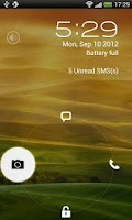Screenshot of JellyBean Pro lock screen