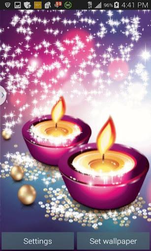 Glitter Candles Live Wallpaper