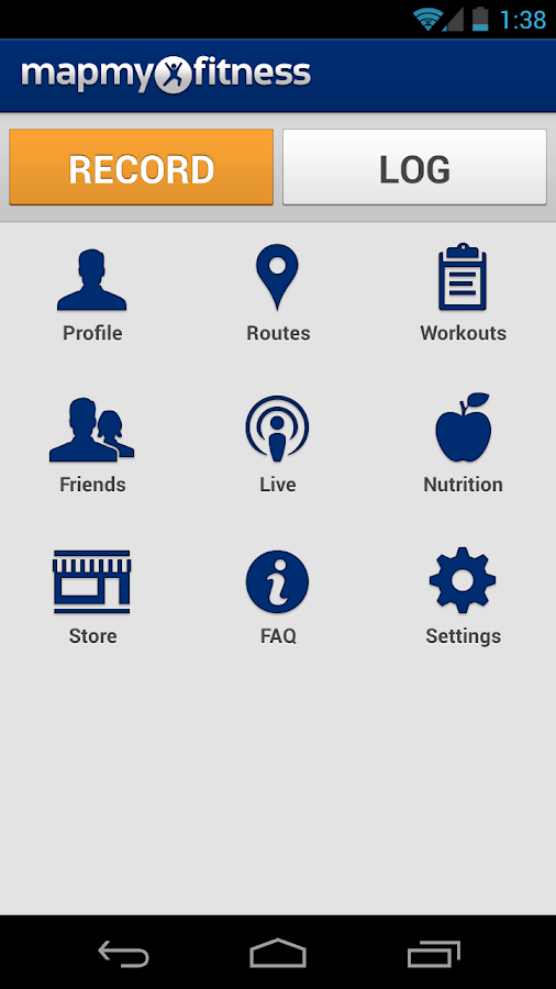 MapMyFitness Workout Trainer - screenshot