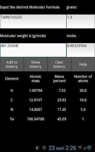 ExN Molecular Weight Calc