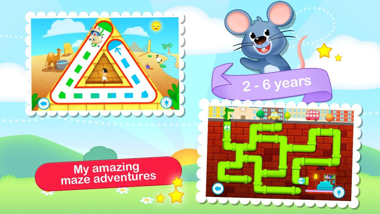 Toddler Maze 123 for Kids HD- screenshot