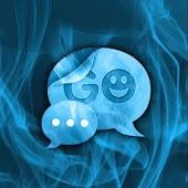 GO SMS PRO Theme Mavi Duman