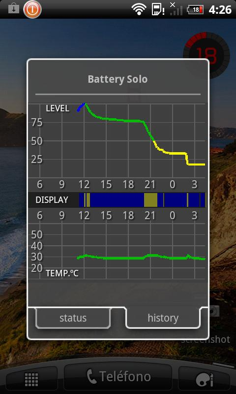 Battery Solo Widget - screenshot