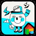 Neon Sky Drawing Dodol Theme icon