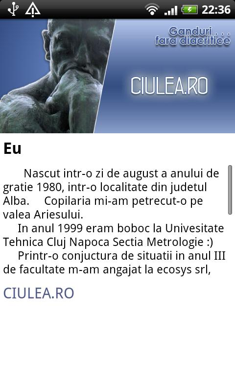 Ciulea's Blog - screenshot