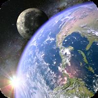 Earth & Moon in HD Gyro 3D 1.0.7