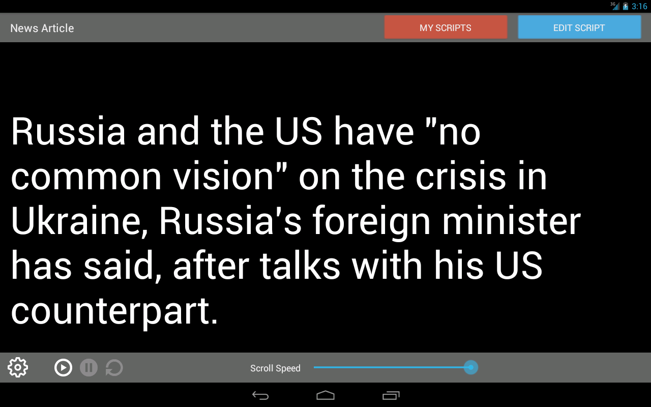 Teleprompter Pro- screenshot